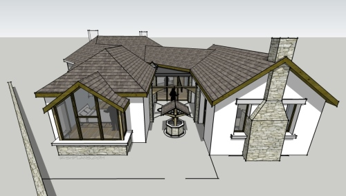 home-extension-for-private-client-architectural-drawings-by-brendan-lennon-2 courtyard extension to rear of home architects design